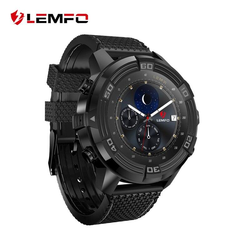 Galleria fotografica LEMFO LEM6 Android 5.1 Astuto Della Vigilanza <font><b>Smartwatch</b></font> Impermeabile GPS Tracker Orologi Intelligenti Telefono 1 GB + 16 GB <font><b>Smartwatch</b></font> 2017