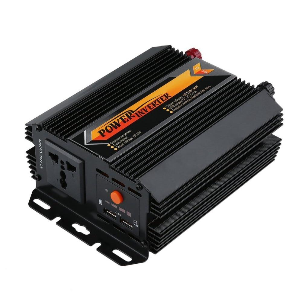 цена на 2017 New 300W 600W Modified Sine Wave Solar Power Inverter DC 12V 24V to AC 100V 110V 220V off Grid Inverter Hot Sale