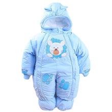 Baby Girl Clothes płaszcz zimowy chłopięcy kombinezon jednoczęściowy dla niemowląt śpioszki dla niemowląt kombinezony noworodka odzież wierzchnia płaszcze dla kurtki dla dzieci kurtki zimowe tanie tanio BEEBILLY Unisex Europejskich i amerykańskich style W wieku 0-6m 7-12m CN (pochodzenie) Z kapturem F203 COTTON Poliester