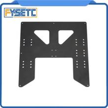 Черный обновления Y перевозки анодированная алюминиевая пластина для A8 очаг Поддержка для Prusa I3 Anet A8 3D принтеры
