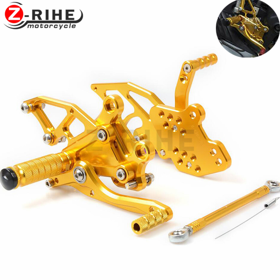 Foot Rests For YAMAHA YZF R3 R25 2013 - 2016 CNC Adjustable Rearsets Foot Pegs Rest Rear Set Black Gold Blue Red YZF-R3 YZF-R25 morais r the hundred foot journey