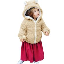 jacket for girls Newborn Baby Boys Girls Long Sleeves Velvet Cartoon Hooded Coat Clothes Snowsuit ship from US dropshiping 1011(China)
