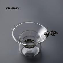 WIZAMONY 1PCS Golden Fish Silver Fish Type Tea Filter Kongfu Tea Infuser