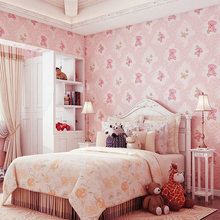 Modern Non-woven Boy and Girl Room Cute 3D Bear Wallpaper Wall Paper Bedroom Living Room Wallpapers Roll