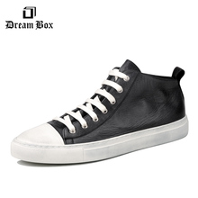 dreambox Simple European and American sports , leather retro-style hand-made coarse shoes, casual shoes