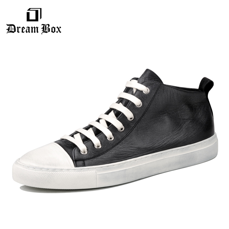 dreambox Simple European and American sports , leather retro-style hand-made coarse shoes, casual shoes managing projects made simple