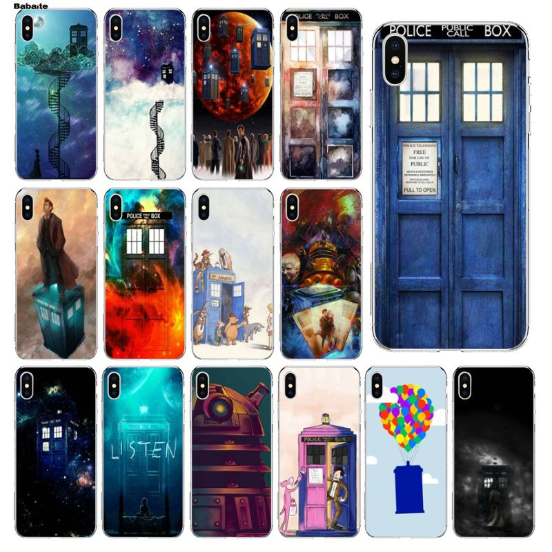 Doctor Who Phone Booth Police Box 221b Door Pattern Phone Case For Iphone 6s 6plus 7 7plus 8 8plus X Xs Max 5 5s Xr Half-wrapped Case Phone Bags & Cases
