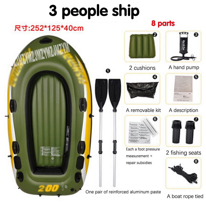 3 Person Kayak Thick Rubber Boats Inflatable Boat Fishing Boat Kayak Assault Hovercraft Boats Bearing Quality 260-320kg 3 person angling boat drifting dinghy inflatable boat dinghy thickened hovercraft kayak pvc fishing boat assault