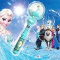 2017 de moda de nova light up toys crianças congelado elsa varinha mágica levou música cantar let it go rainha da neve do gelo brilho led toys juguetes