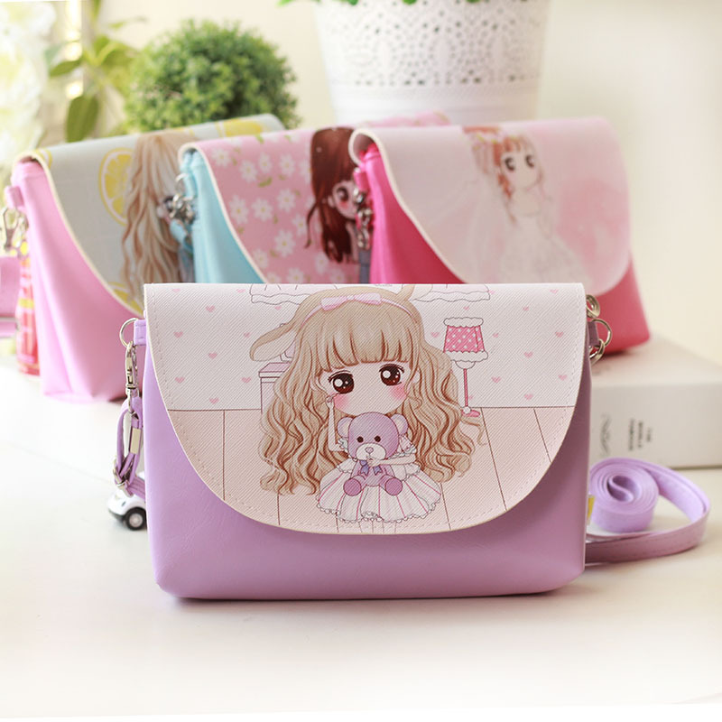 Summer Mini Children Bag Princess Cartoon Bags Kids Girls Purses Long Strap Single Shoulder Messenger Bag FA$B girls mini messenger bag cute plush cartoon kids baby small coin purses lovely baby children handbags kids shoulder bags bolsa