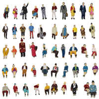 100pcs HO scale 1:87 Standing and Seated Passenger People Sitting Figures Model Train Layout P8715