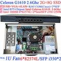 Дешевые Intel Celeron G1610 2.6G ROS Брандмауэр Маршрутизатор с 6*1000 М 82574L Nic 2 * i350 Gigabit SFP порты 2 Г RAM 8 Г SSD