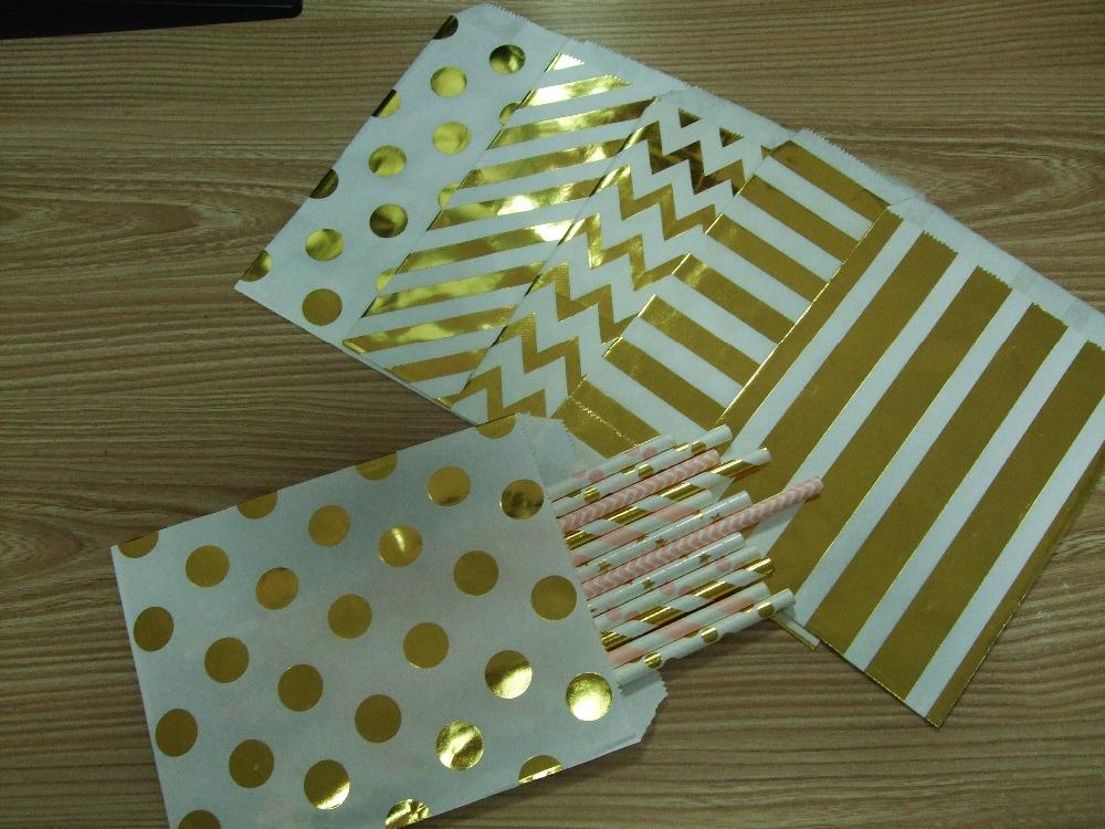 1000 3000 5000pcs Foil Gold Candy Bags