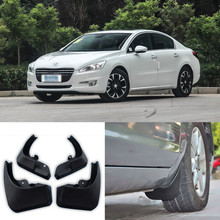 цена на Brand New  4pcs High Quality ABS Mudguard Splash Guards Fender Mud Flaps For Peugeot 508