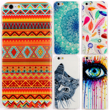 Special Eye Design Silicon Soft TPU Cover Cases For Apple iPhone 6 6S Rainbow White Case