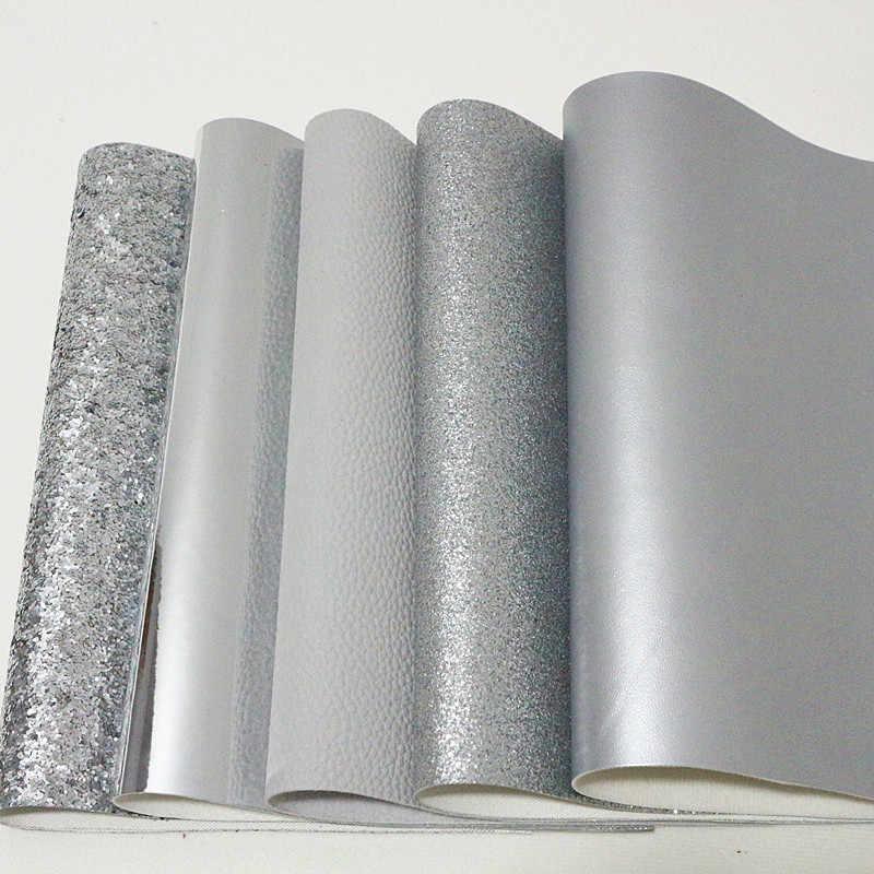 5 pçs/set 21X29 CM A4 Lichia Glitter Falso Artificial de Couro Sintético PU, tecido De Costura para Sacos de Sapatos Materiais Arco de Cabelo DIY