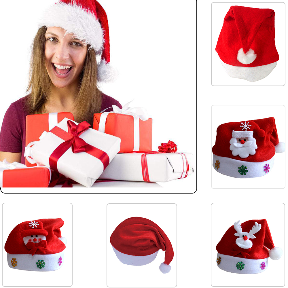 Baby Christmas Santa Claus Cap Kids Hat Newborn Beanies Soft Skullies Photography Girls Boy Winter Accessories For 2-5 Years Jade White Home & Garden