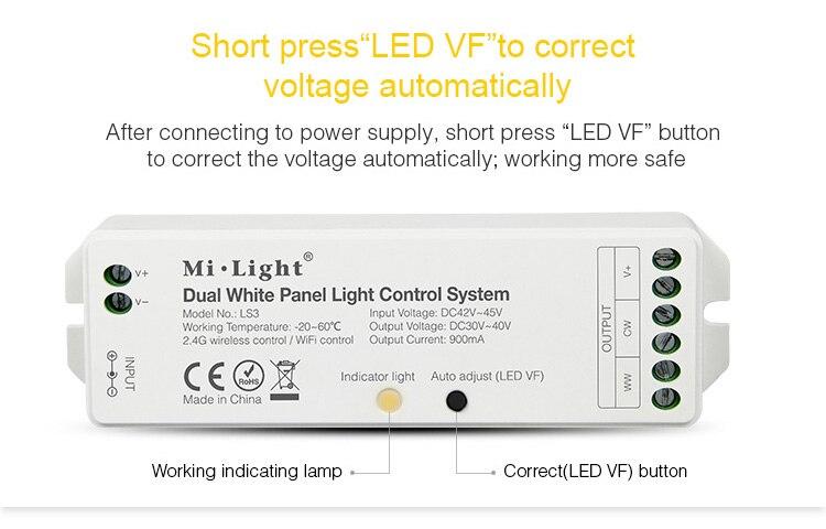 DC42V-45V Input LS3 Dual White Panel Light Controller DC30V-40V Output 900MA Brightness Color Temperature Adjustment Led Dimmer