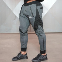 Dr New Stitching Good Muscle Fitness Brothers New Feet Squat Jogging Pants Men Leisure Trousers