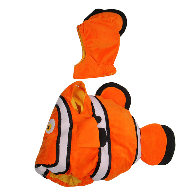 Novelty & Special Use ...  ... 32816735272 ... 4 ... Deluxe Adorable Child Clownfish From Pixar Animated Film Finding Nemo Little Baby Fishy Halloween Cosplay Costume Age 2-7 Years ...