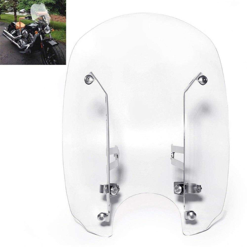 Moto Effacer Pare-Brise Pare-Brise Avec matériel De Montage Pour Indien Scout Soixante 2016-2018
