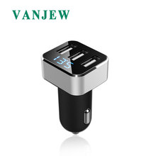 VANJEW C15 3 USB Charger Quick Charge Power Adapter 3 USB Ports Voltage Detection Fast Mini Car Charger For iPhone For Samsung