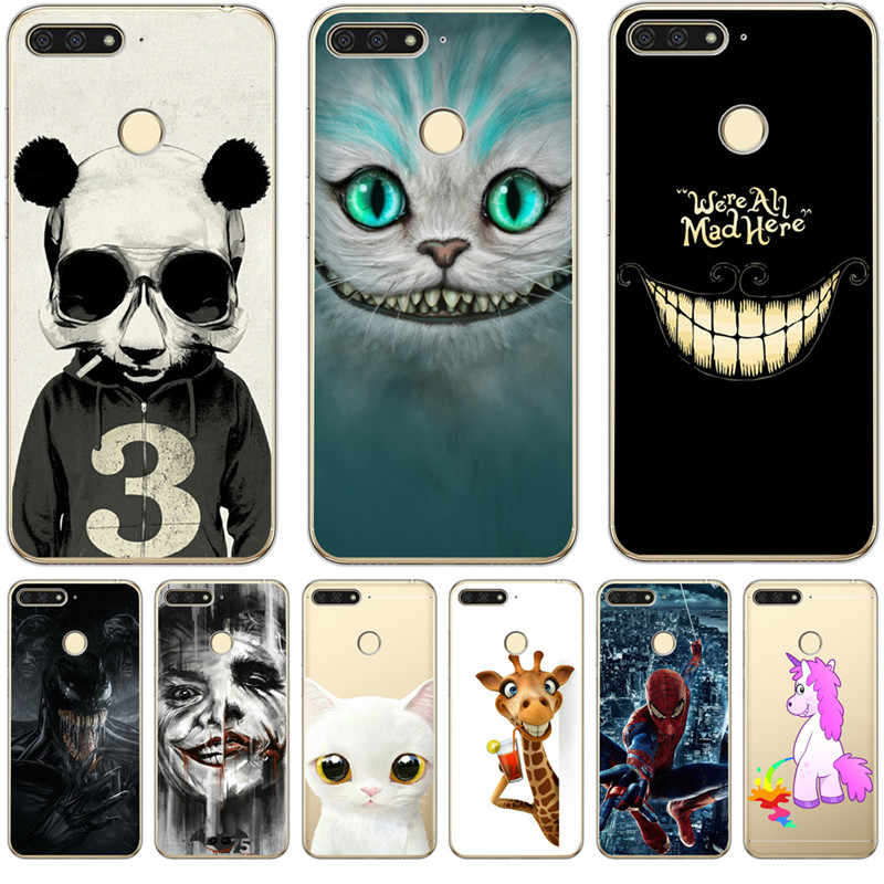 Luxury Marvel Joker Unicorn Venom For Huawei Honor 10 9 8 8X 8C 7A 7C 7X 7 6X 6A Lite Cover Case Silicone Funda Coque Etui