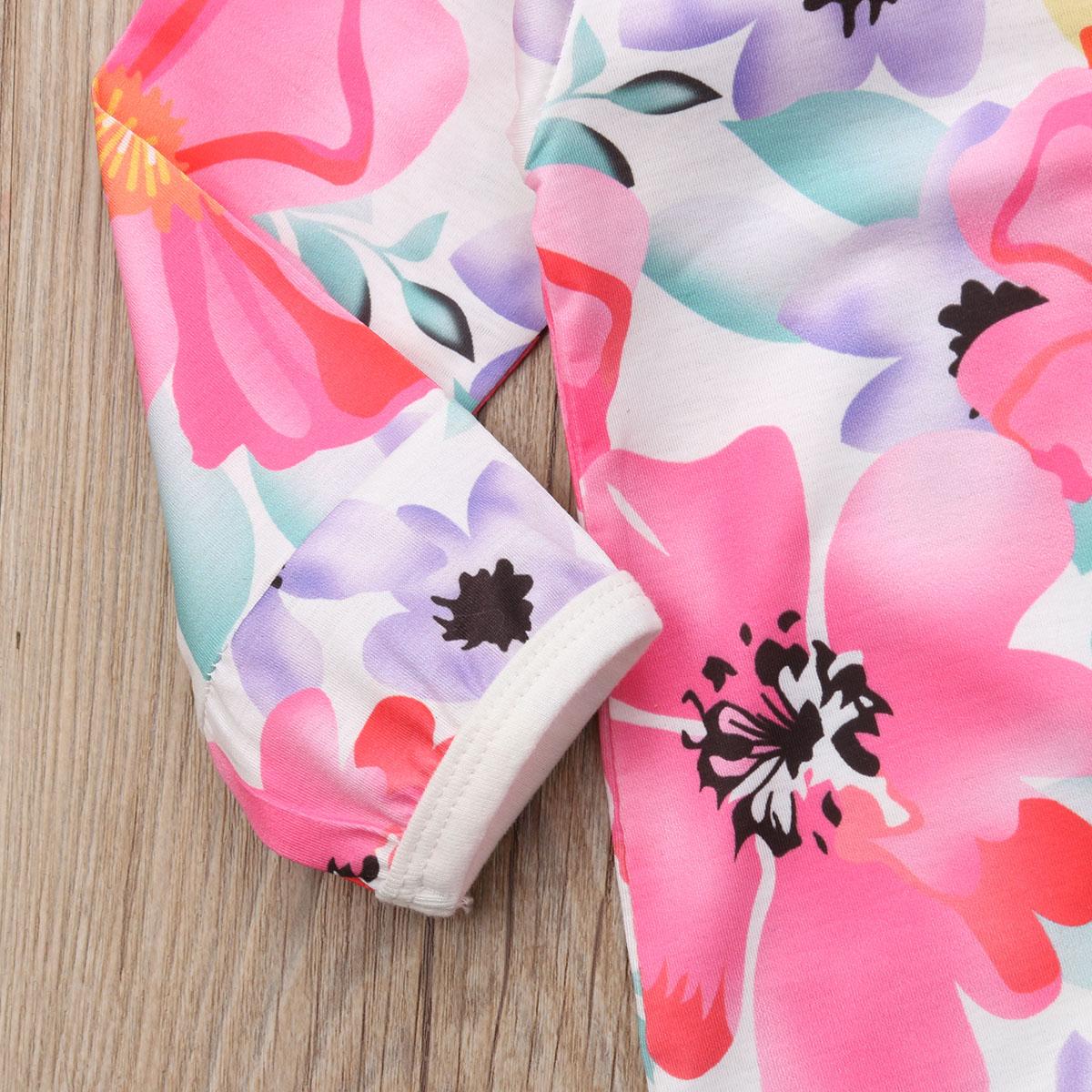 HTB1rE1raLjsK1Rjy1Xaq6zispXaP Pudcoco Girl Jumpsuits 0-24M US Flower Newborn Baby Girl Zipper Cotton Romper Jumpsuit Autumn Outfits Clothes