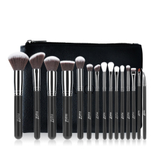 MSQ Pro 15Pcs Makeup Brushes Set Powder Foundation Eyeshadow Make Up Brushes Cosmetics Soft Synthetic Hair msq