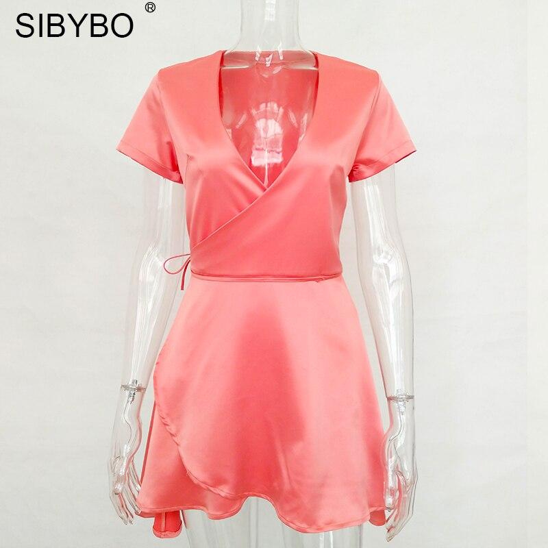 Sibybo Partido Atractivo Del Club Bodycon Vestido de Verano Las ...