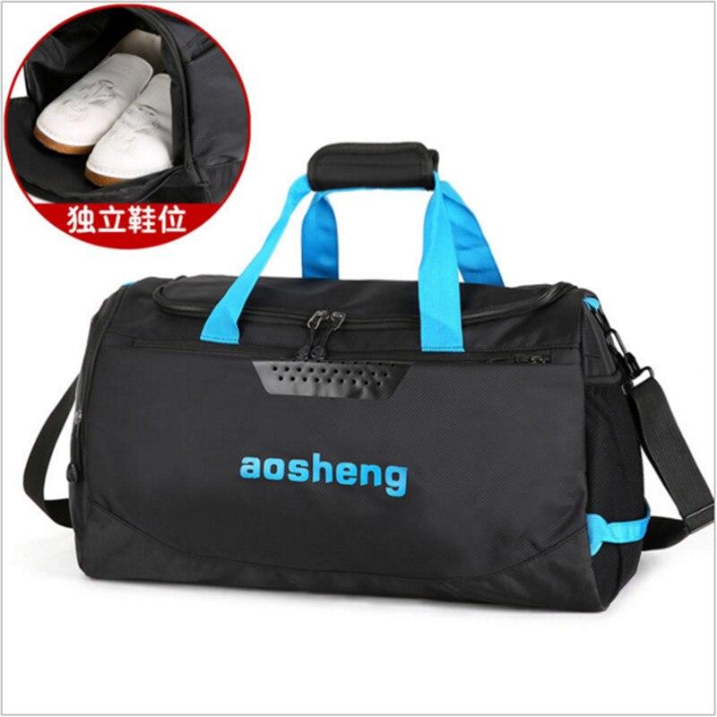 2018 Hot Nylon Sport Gym Bag Outdoor Waterproof women Handbag School  Fitness Bag for Men Training Camping Female Yoga Duffel Bag-in Gym Bags  from Sports ... b8492df35dc2c