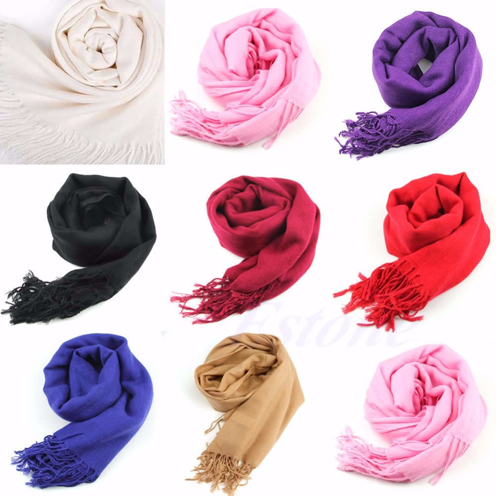 1pc Women Wool Blend Long Scarf Tassels Warm Scarves Winter Warm Soft Wrap Shawl New Drop ship