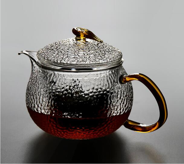 Chinese Style Heat Resistant Hammer Gl Teapot Filter Boil Scented Tea Effort Set Two Color Optional 550ml In Teapots From Home Garden On
