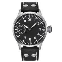 цена Corgeut Fashion Leather Top Mechanical Watch 17 Jewels Seagull 6497 Hand Winding Mechanical Watches luminous Men wristwatches онлайн в 2017 году