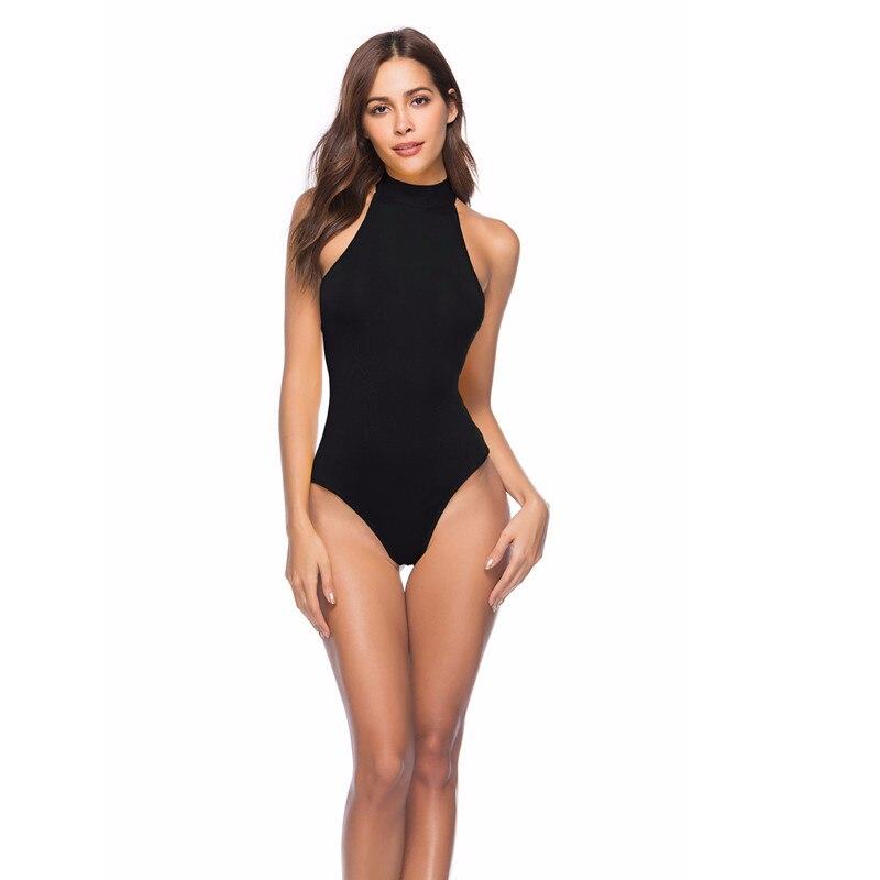 100% QualitäT 2019 Neue Sommer Halter Sexy Frauen Bodys Schwarz Weiß Rot Strand Casual Strampler Sleeveless Femme Bodycon Backless Bodysuit Ausgezeichnete (In) QualitäT