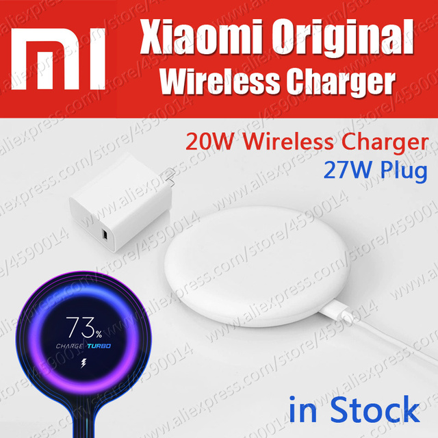 Stock 27 W Plug Original Xiaomi Wireless Charger 20 W Max 15 V Apply To Xiaomi Mi9 Mi X 2 S Mix 3 Qi Epp10 W For I Phone Xs Xr Xs Max by Rurihai