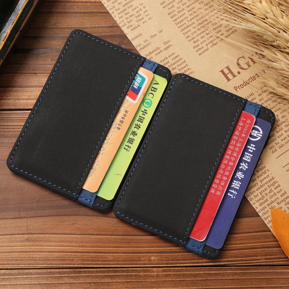 Porte Carte Small Pocket Men Women Cover On Case For ID Business Bank Credit Card Holder Wallet Purse Female Male Bag Cardholder