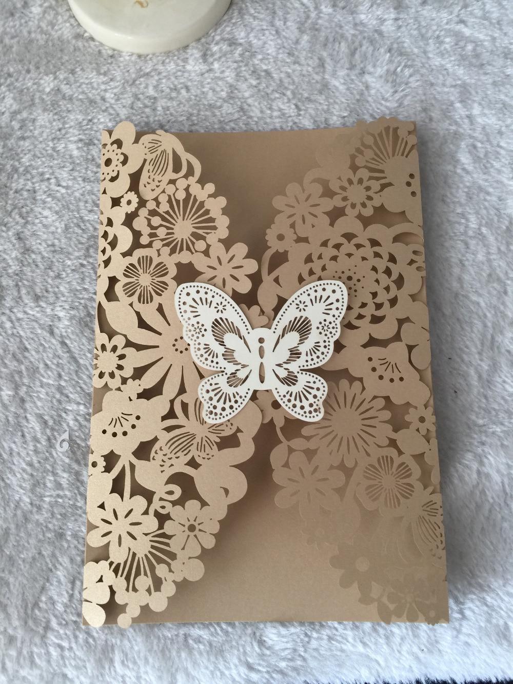inc168 beautiful wedding cards 50setslot laser cut