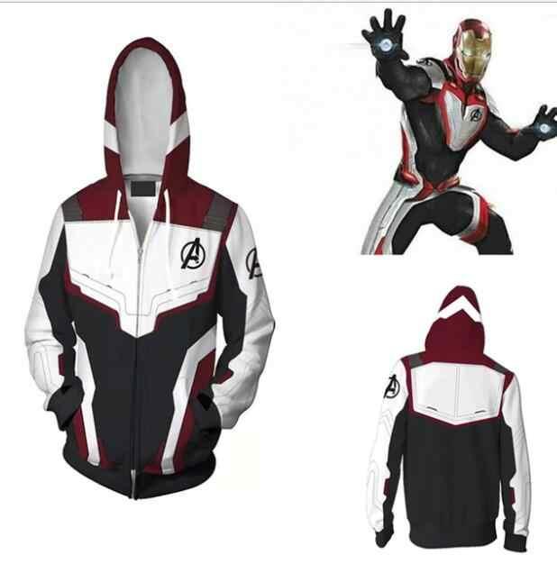 2019 Avengers Endgame Thanos Hoodie Cosplay Superhero Jacket Sweatshirt Costume