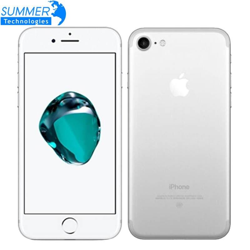 Original Da Apple iPhone 32 7 2 GB RAM Do Telefone Móvel/128 GB/256 GB ROM Quad-Core 12.0MP Fingerprint ID toque Smartphones Usados
