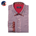 Hot Spring and Autumn 2016 Multicolor new large size male shirt Striped color cotton long-sleeved men's shirts S-3XL