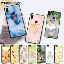 WEBBEDEPP lovely Bambi And Thumper Silicone Case for Xiaomi Redmi 4A 4X 5A 5 Plus S2 6 6A 7 7A K20 Pro Go
