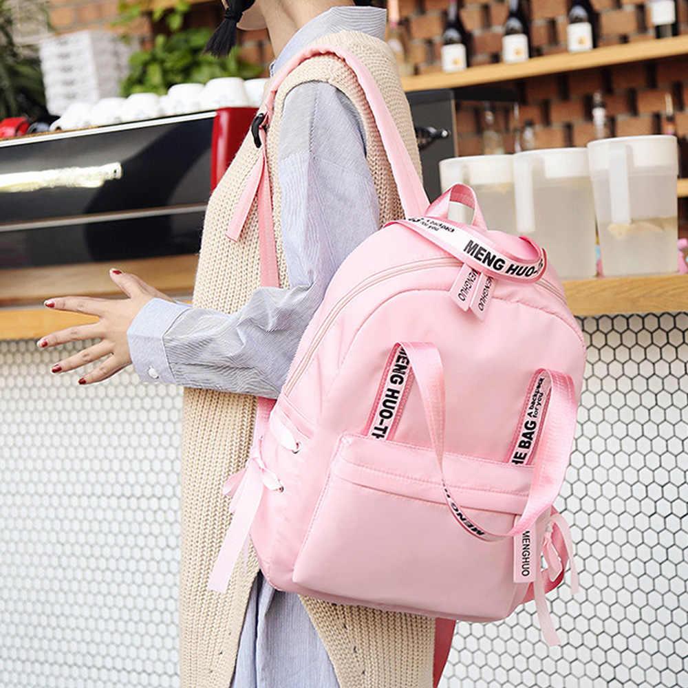 42b04997a270 ... Menghuo большой ёмкость рюкзак для женщин опрятный школьные ранцы для  подростков женские нейлоновые дорожные сумки обувь ...
