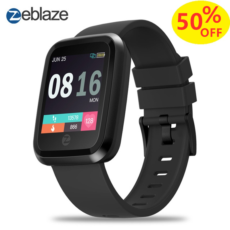 2019 Zeblaze Crystal 2 Smartwatch IP67 Waterproof Wearable Device Heart Rate Monitor Color Display Smart Watch For Android IOS