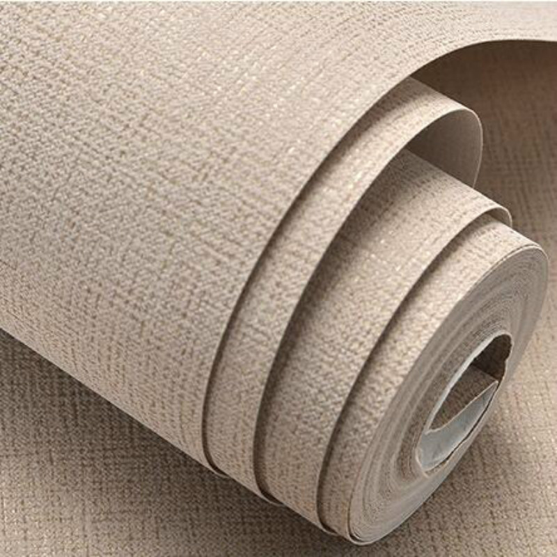 White,Beige,Brown Textured Simple Plain Solid Color Wall Paper Modern Design Wallpaper Roll Home Decor