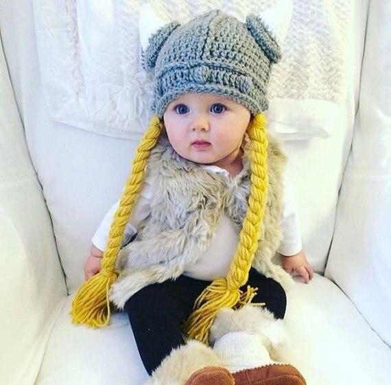 ツ)_/¯Ganchillo del sombrero de Viking, recién nacido al adulto, con ...