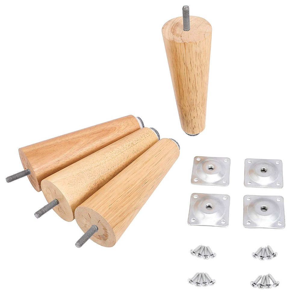 4PCS 6 Solid Wood Furniture Legs Hack Sofa Couch Bed Coffee Table Make Home & Office Furniture Pop Sturdy Tapered Legs4PCS 6 Solid Wood Furniture Legs Hack Sofa Couch Bed Coffee Table Make Home & Office Furniture Pop Sturdy Tapered Legs