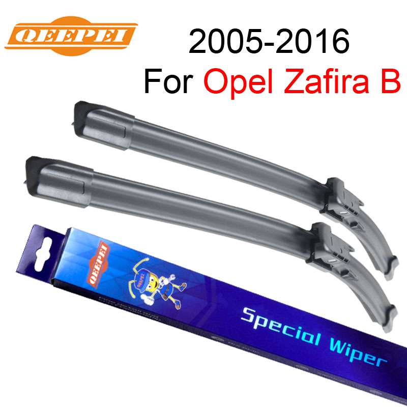 QEEPEI Window Wiper Blade For Opel Zafira B 2005-2016 Car Accessories For Auto Rubber Windscreen CPB113-2