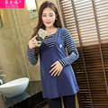 New Arrival Maternity Blouses Cotton Long Sleeve Nursing Clothes for Pregnancy Breastfeeding Tops for Pregnant Women