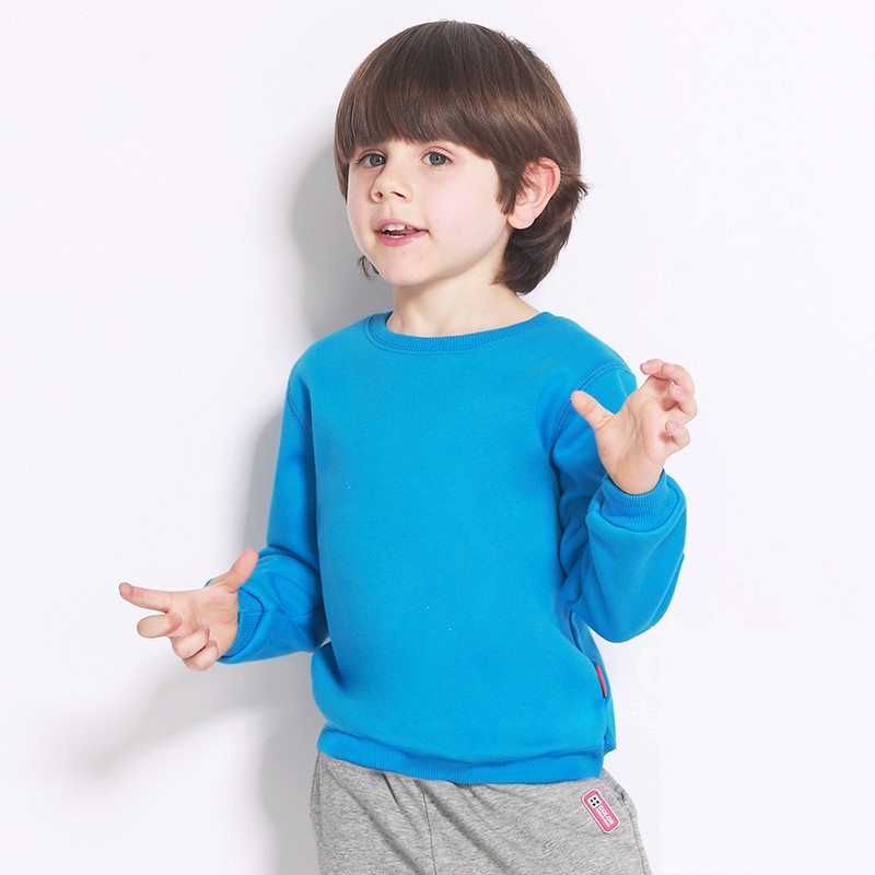 2018 Spring Thin Plain Basic Kids Hoodies Boys Girls Red Casual Pullover Unisex Basic Kids Clothes 3-12 Years Old AKH165005